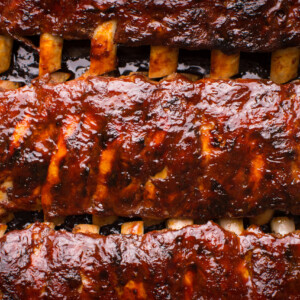 Grilled Spicy Hot Spare Pork Ribs Barbecue