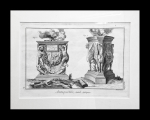 Diderot. Antiquities. ca 1770 matted size 15 x 191/2