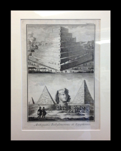 Diderot. Antiquities. ca 1770 matted size 20 x 15