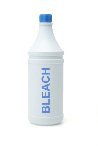 Small bottle of generic bleach without a brand label