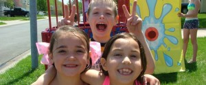 Dunk Tank with Happy Kids
