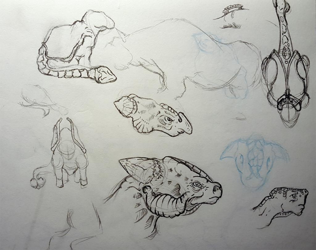 Saigus head concept sketches