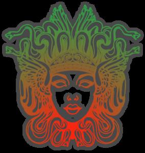 Illustration of the face of Medusa