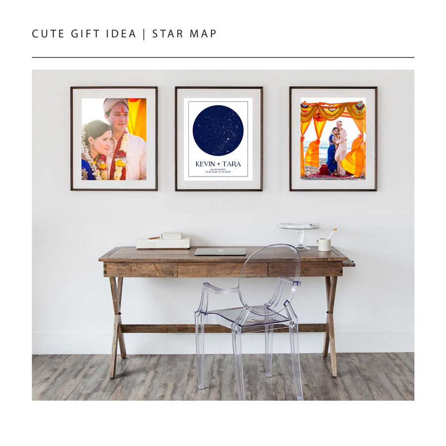 gifts for couples, custom star map, personalized wedding gift