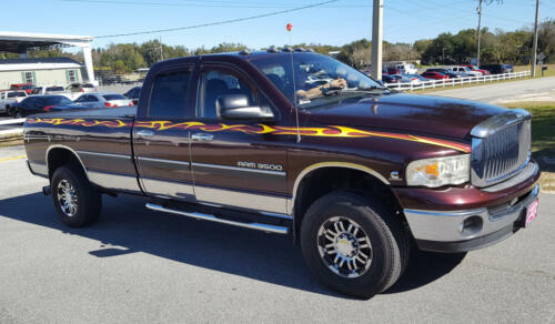 Dodge Ram Flame Graphics
