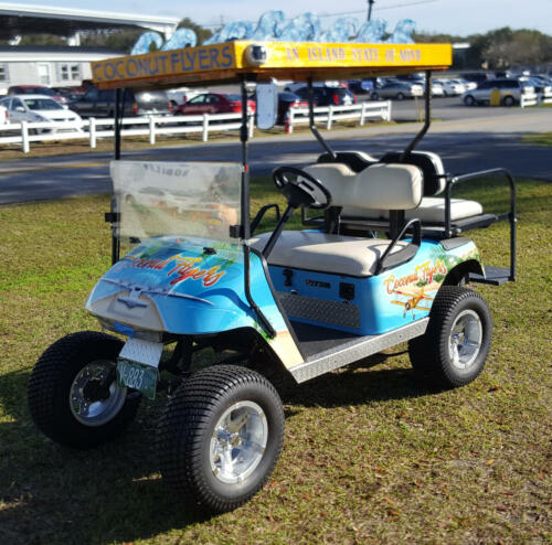 Coconut Flyers Golf Cart Front