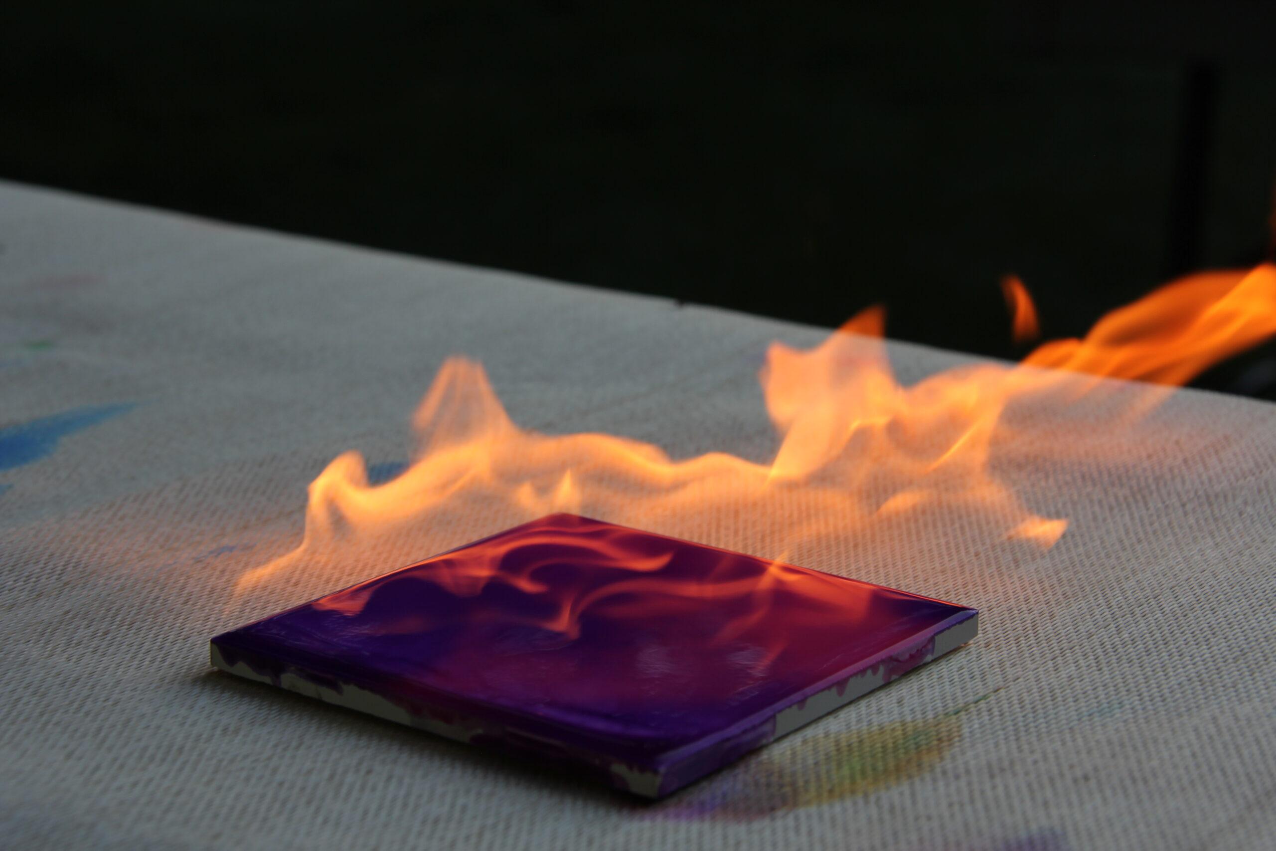 Coaster Burning
