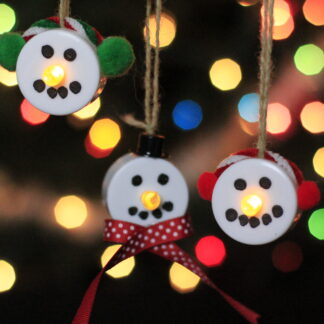 Snowmen Tealight Trio