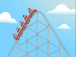 Antisocial creates ups and downs for people.  Roller-coaster cartoon picture.