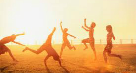 Is the Soul in Control? joyous kids jumping in sunset