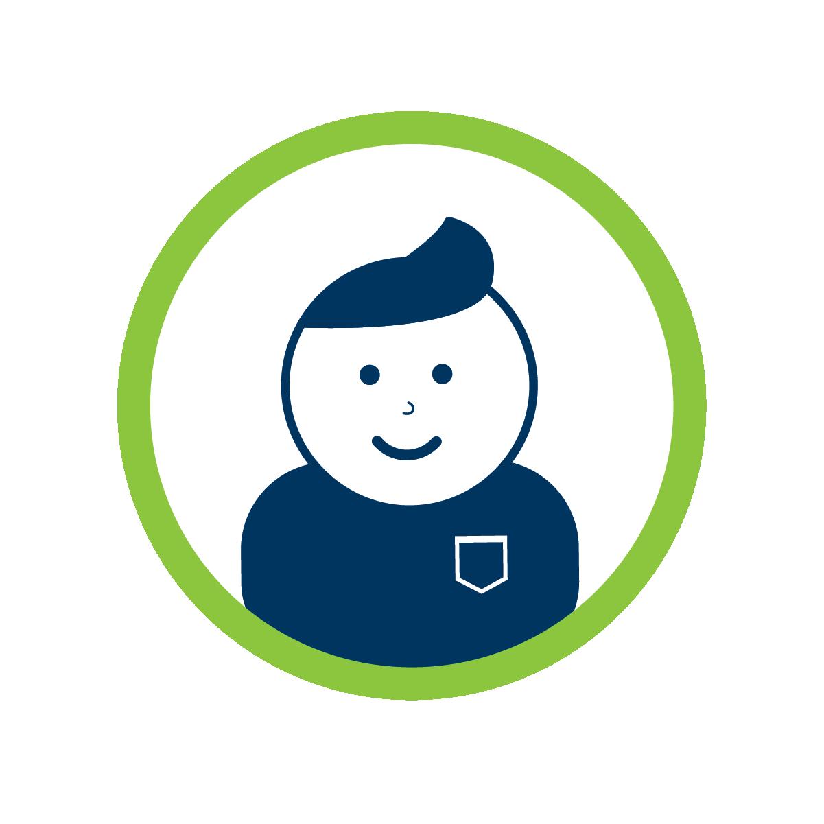 smiling helper icon