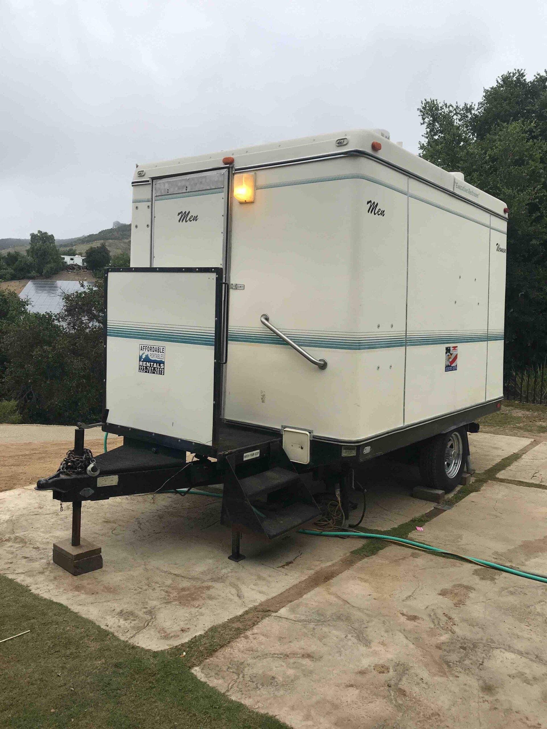 Delux Restroom Trailer Affordable Porta Potty