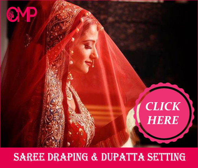 asaree drapping and duppatta setting