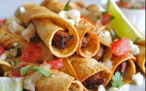 Chicken Flautas in Dallas Texas at Emilio's Mexican Restaurant