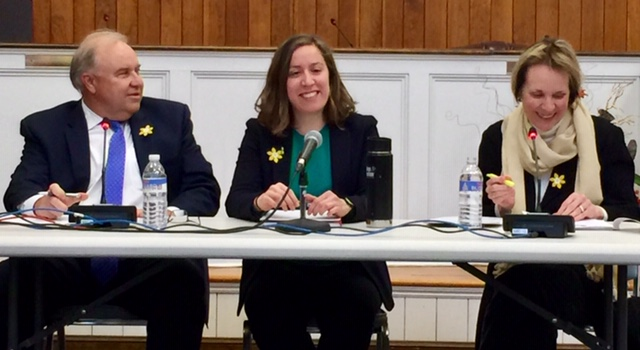 Left to Right - City Manager Joe Nicholson, Mayor Jamie Bova, and Council Vice President Susan Taylor - March 28, 2019 - Photo Credit - Chip Leakas