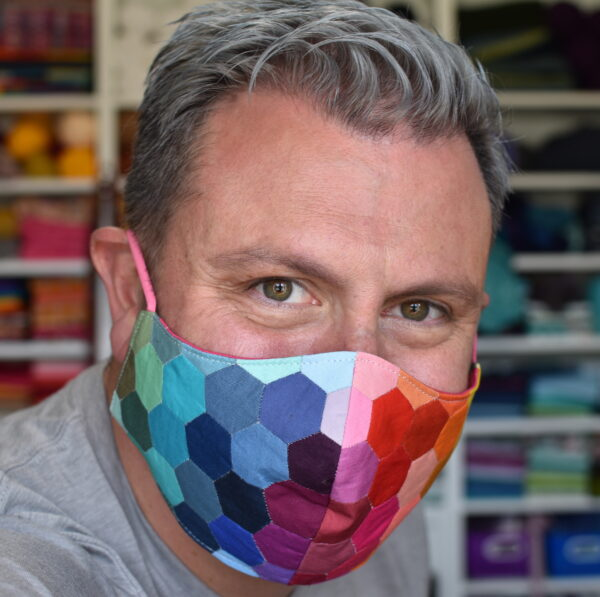 Rainbow Hexie Face Mask with Filter Pocket (Tutorial)