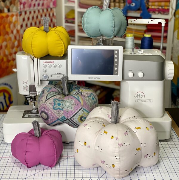 Hooked Fabric Pumpkins