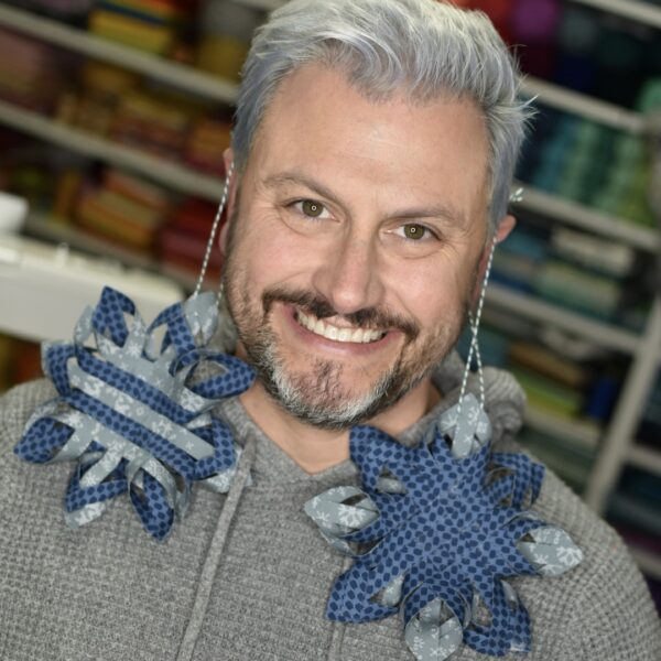 DIY No-Sew Fabric Swedish Star Ornament Tutorial