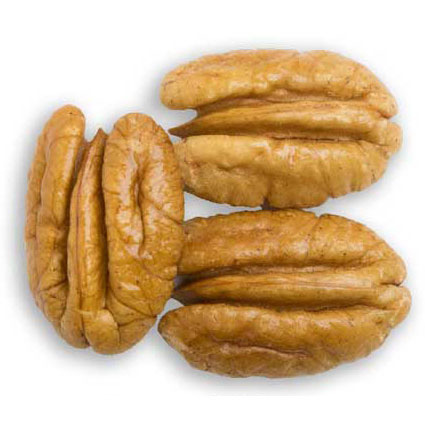 Three mammoth pecan halves
