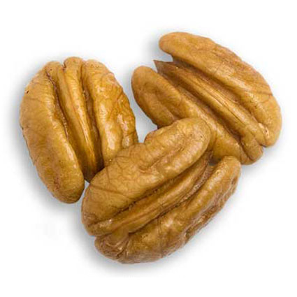 Three jumbo pecan halves