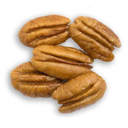 Five medium pecan halves
