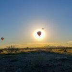 Hot Air Balloon Passing over the Sun