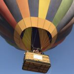 Waving Passengers from a hot air balloon