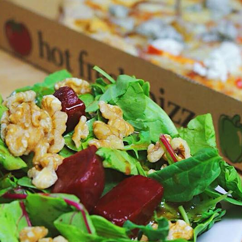 Barley Sprout PIzza and Salad