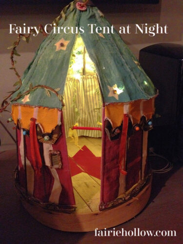 Fairy tent at night
