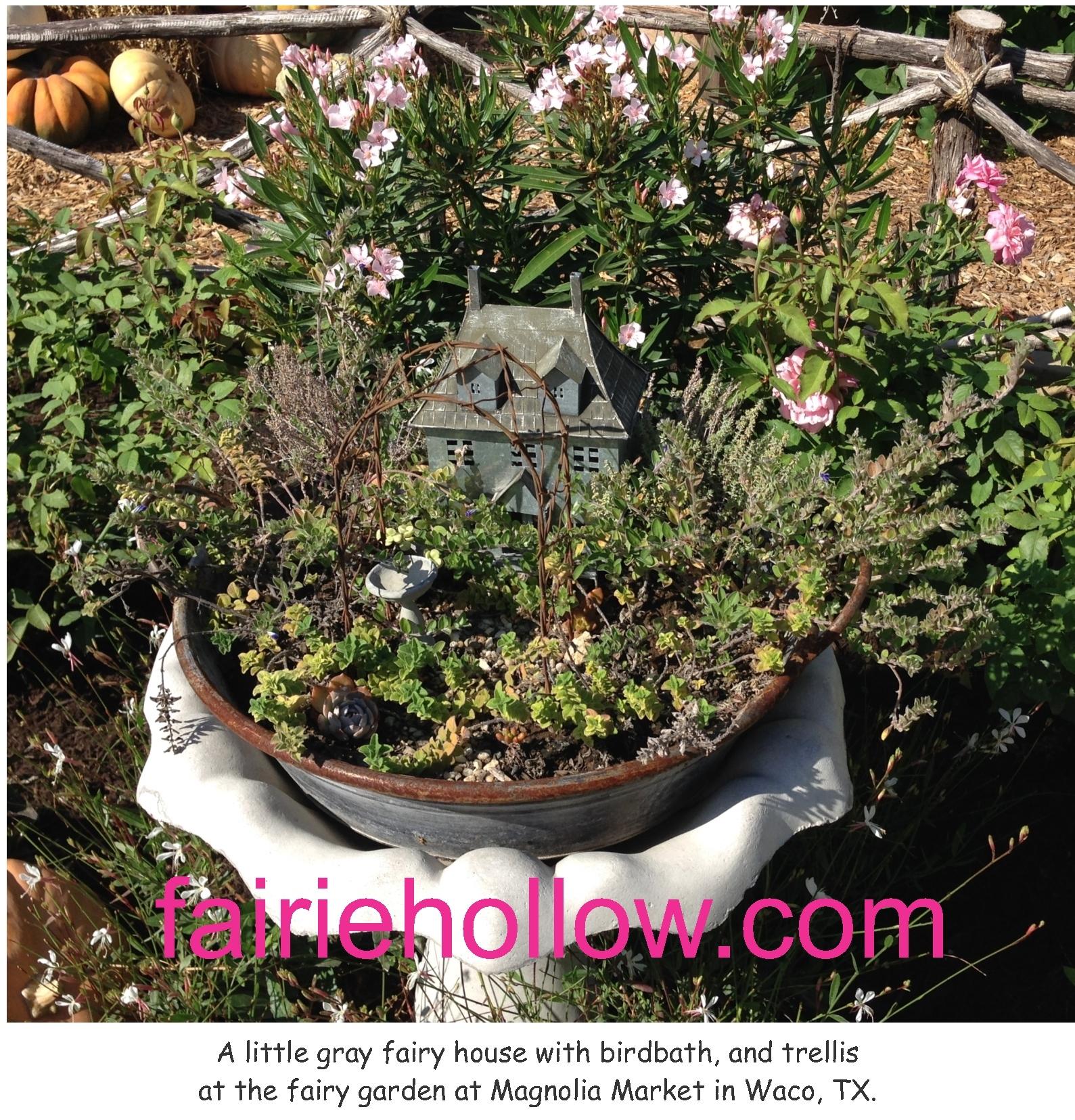 magnolia-market-little-gray-house-with-trellis-and-birdbath-2