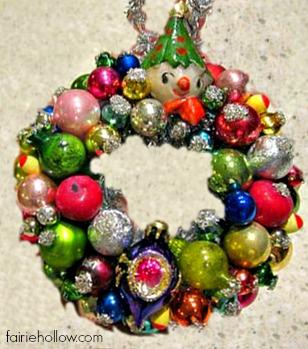 miniature vintage wreath