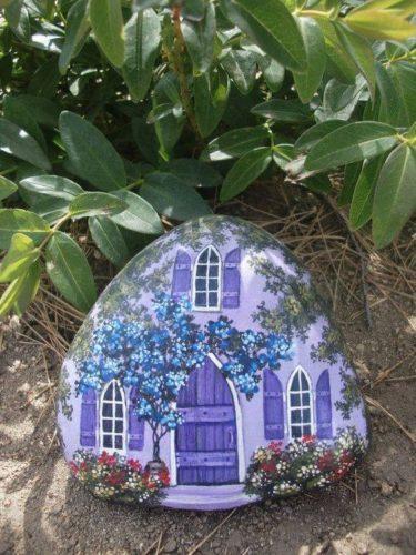 painted rock fairy house fairie house | fairiehollow.com