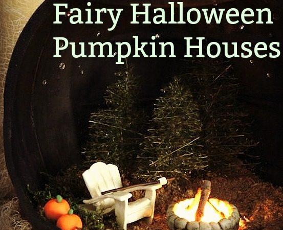 fairy, pumpkin, halloween, black, fairy houses