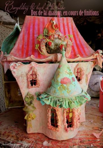 fairy house, Laetitia Mieral, paper mache artist, French fairy tales