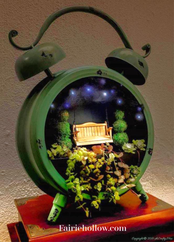 Make A Fairy Vignette From Vintage Alarm Clocks