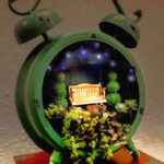 Make a Fairy Clock House for your Fairy Garden with Found Objects