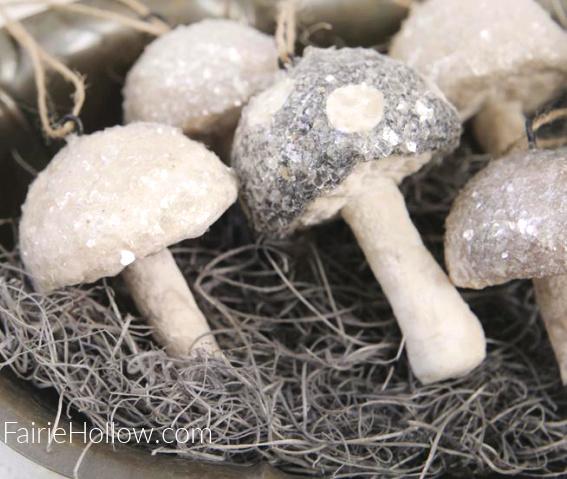 Spun Cotton mushrooms