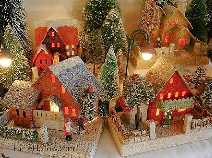 Miniature Putz Village