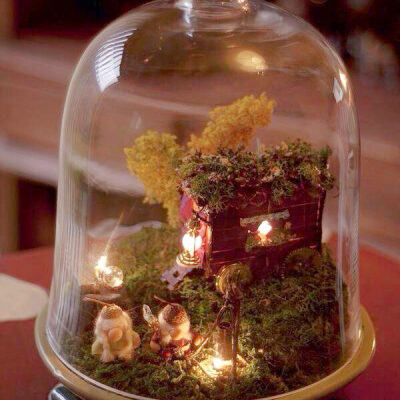 Elevate a Simple Object by putting it Under Glass in a Cloche.