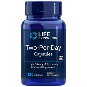 Life Extension Two Per Day High Potency Multivitamin 120 Capsules UPC 737870231417