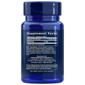 Melatonin 6 hour time release supplement facts