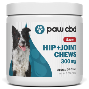 Hip and Joint Chews for Dogs Paw CBD Bacon Flavor
