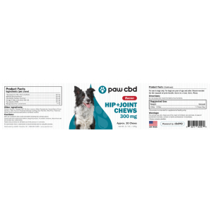 paw cbd hip and joint chews supplement facts