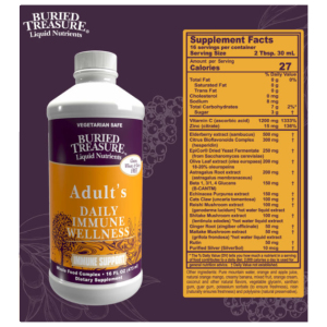 Buried Treasure Adult's Daily Immune Wellness Supplement Facts