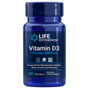 Vitamin D3 125 mg 5000 iu Life Extension