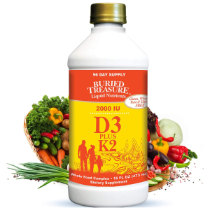 Liquid Vitamin D3 Plus K2 Buried Treasure