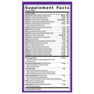New Chapter Every Man's One Daily 40+ Multivitamin Supplement Fact