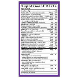 New Chapter Every Man One Daily Multivitamin Supplement Fact