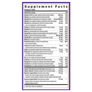 Every Woman's One 55+ Daily Supplement Facts