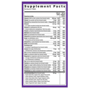 New Chapter Prenatal Supplement Facts